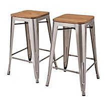 The industrial chic of CANVAS Union Bar Stools will work perfectly all around your house fered as a pair these stools have a durable iron frame