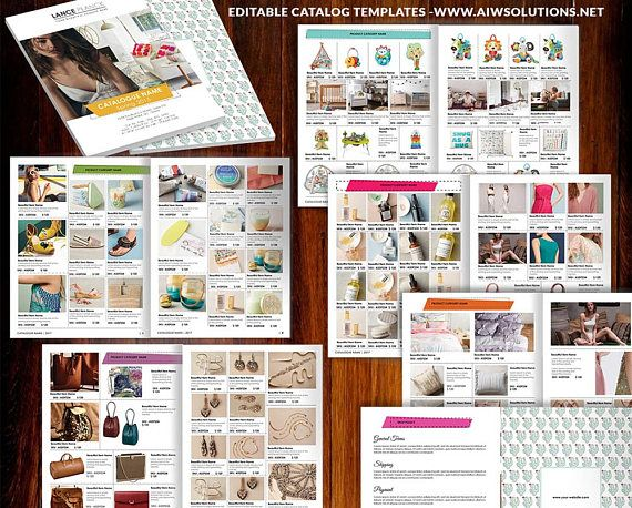 Product Lookbook Template Line Sheet Catalog Product