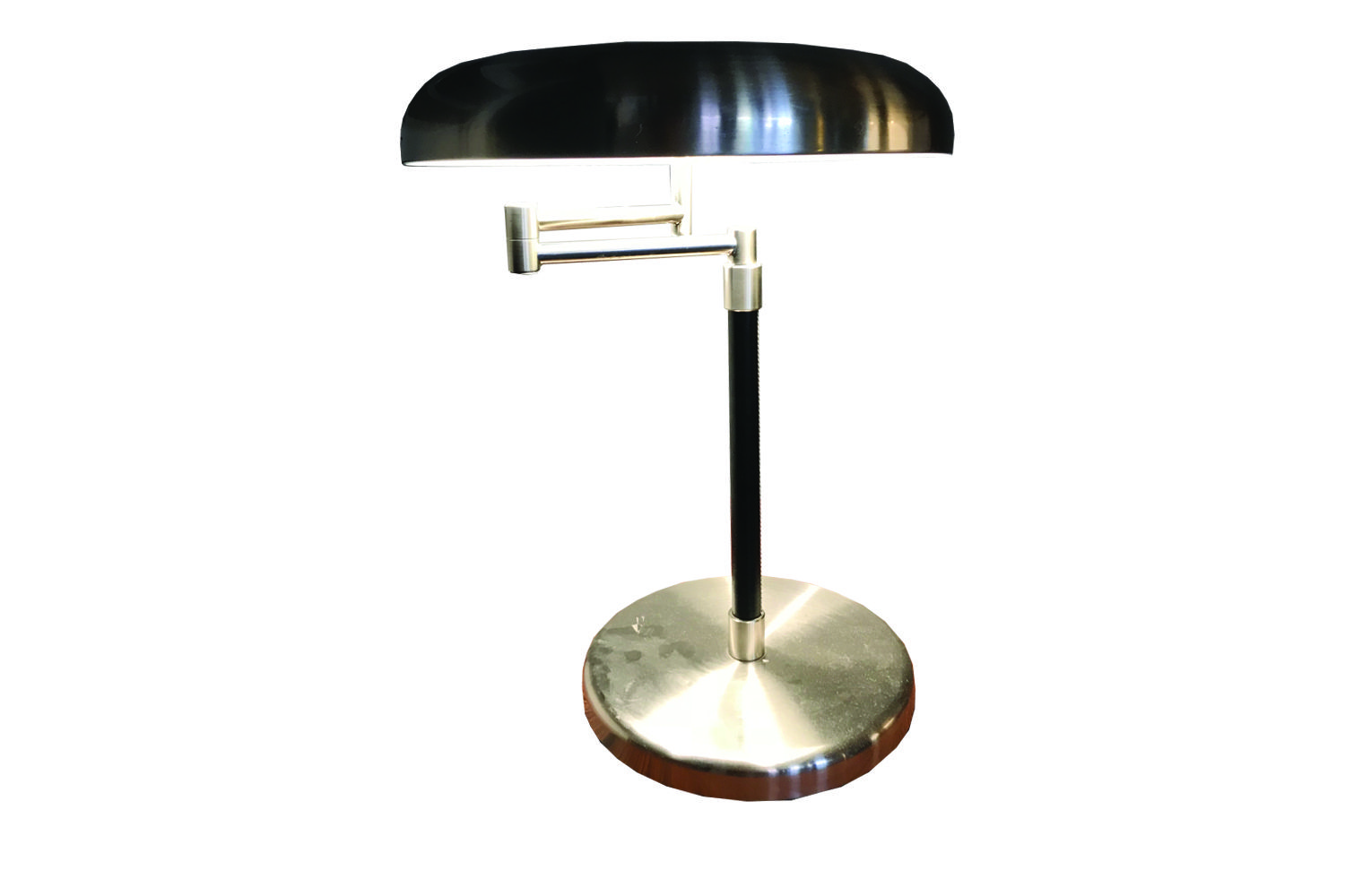 Steel And Leather Table Lamp 80s Table Lamp Lamp Table Style