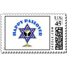 Happy Passover Postage Stamp