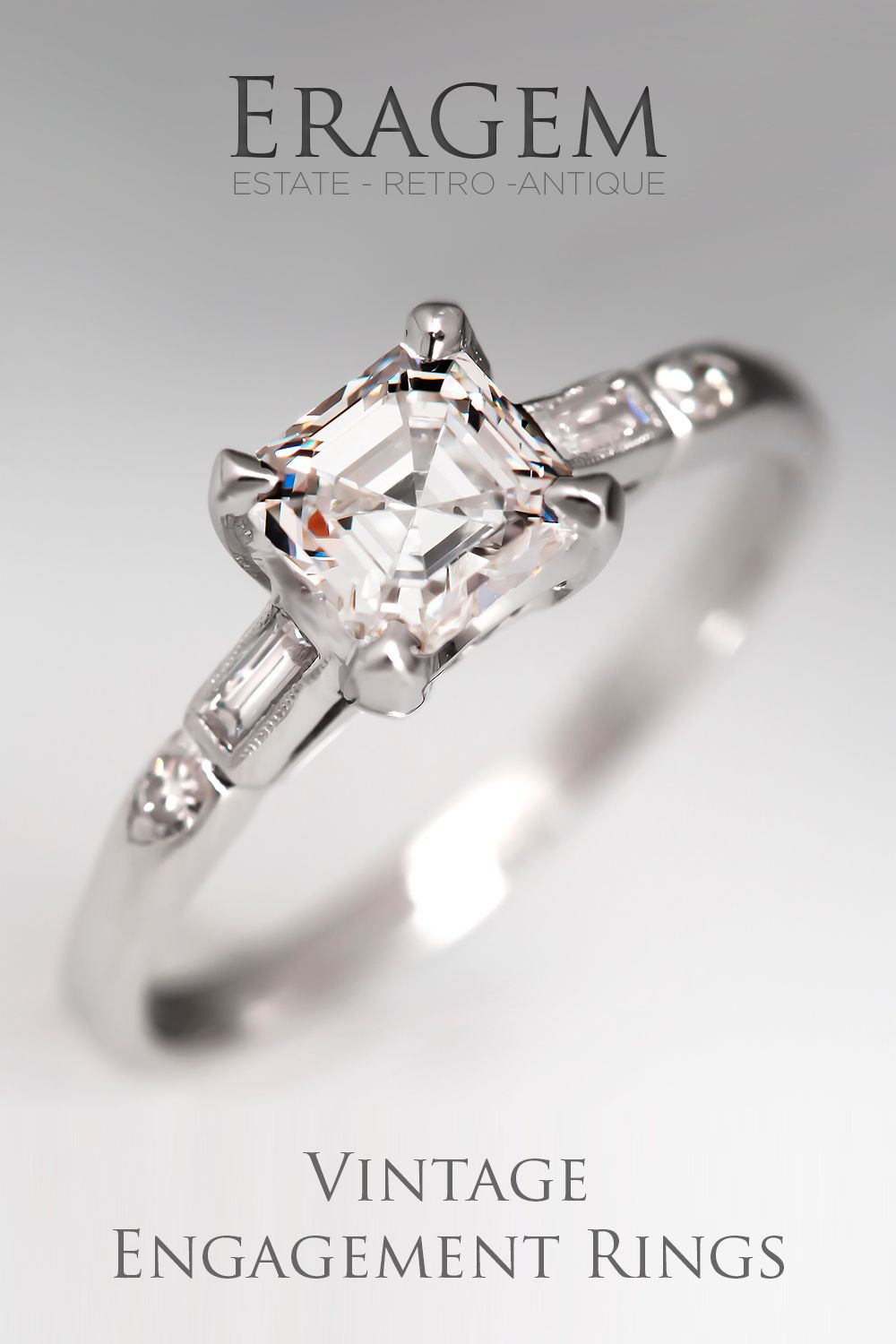eragem specializes in finding one of a kind authentic vintage engagement rings for - One Of A Kind Wedding Rings