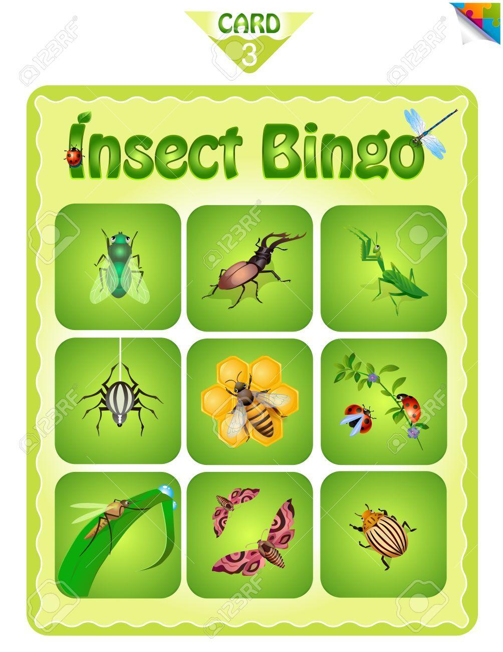 Para imprimir juego de bingo educativo para niños en edad preescolar ...