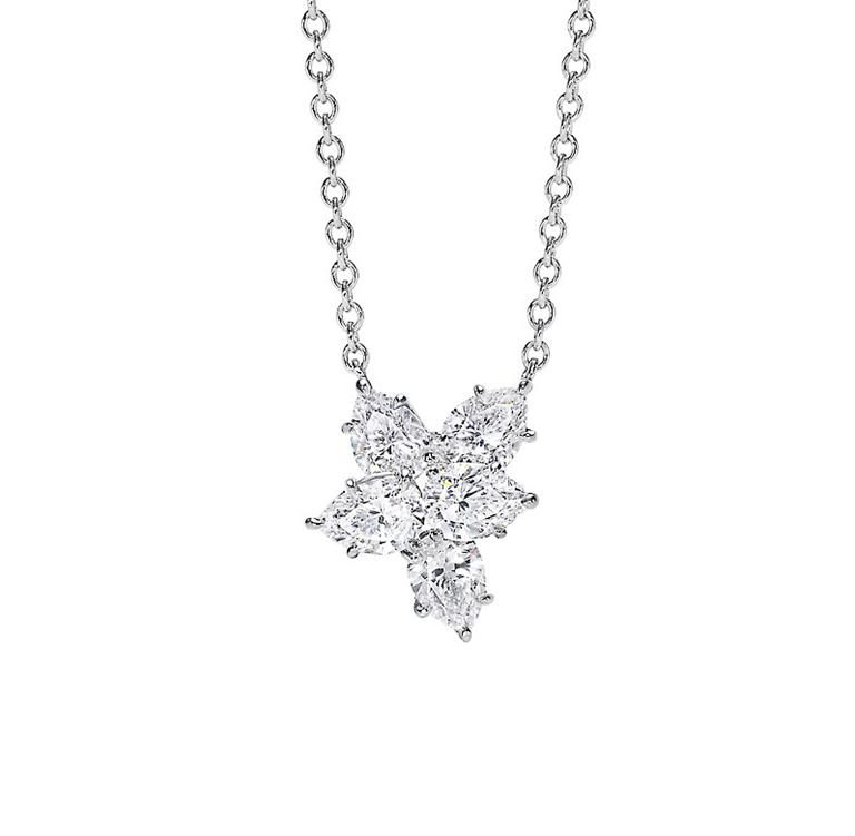 Harry winston cluster pendant matches five pear shape cluster harry winston cluster pendant matches five pear shape cluster diamond ring on my aloadofball Images
