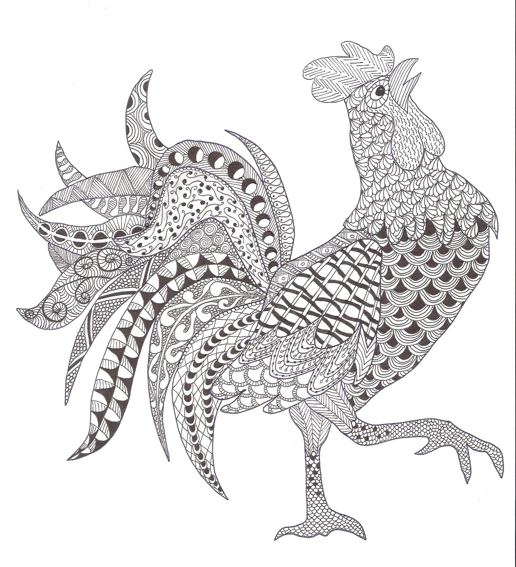 zentangle coloring pages for adults - photo#44