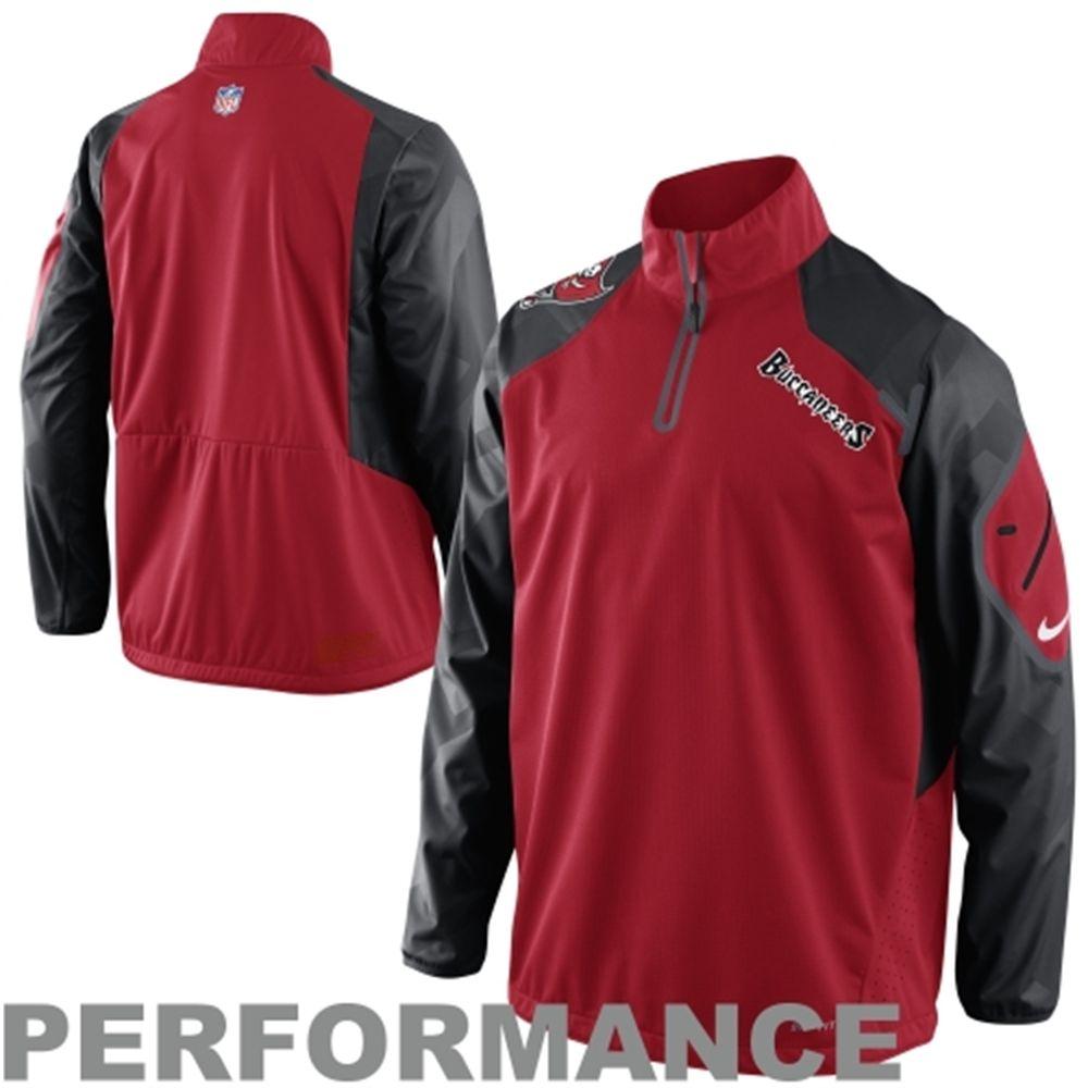3662a208ffe9 Nike Tampa Bay Buccaneers Fly Rush Half-Zip Performance Sideline Jacket -  Red Black