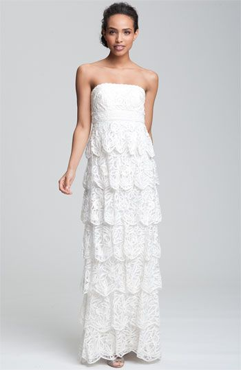 Sue Wong Tiered Strapless Mesh Gown available at #Nordstrom ...