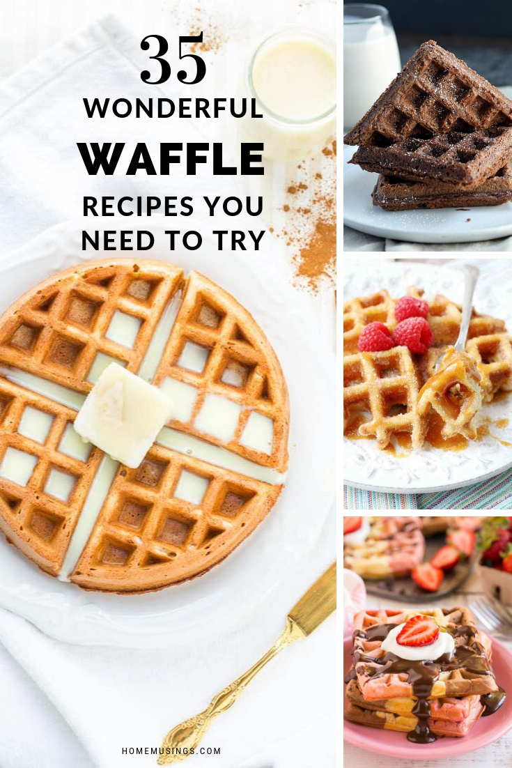 Everyone Loves A Buttermilk Waffle With Butter And Syrup But These Creations Go Way Beyond That Simple S Waffle Recipes Homemade Donuts Recipe Dessert Waffles