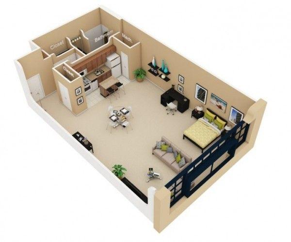 Studio Apartment Floor Plans | Pinterest | Studio apartment plan ...
