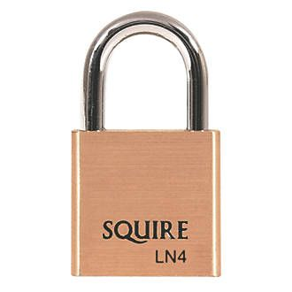 Squire Keyed Alike Security Padlock Brass 40mm Solid brass construction with hardened steel shackle. Features a double locking mechanism and 5-pin tumbler. Keyed alike. 2 keys supplied. http://www.MightGet.com/april-2017-1/squire-keyed-alike-security-padlock-brass-40mm.asp