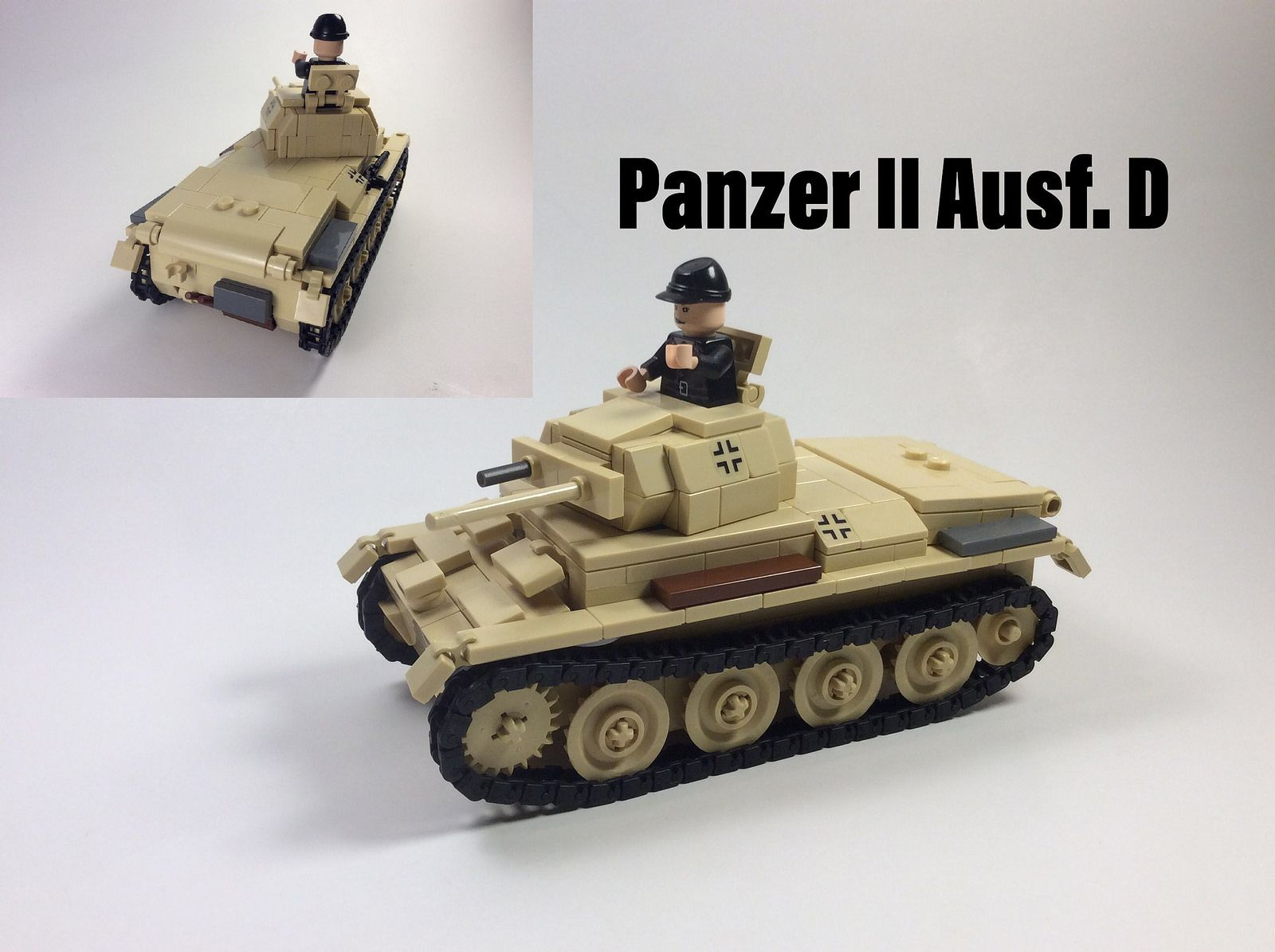 12fd035ab9118 DAK Panzer II Ausf. D   modern military lego   Lego military, Lego ...
