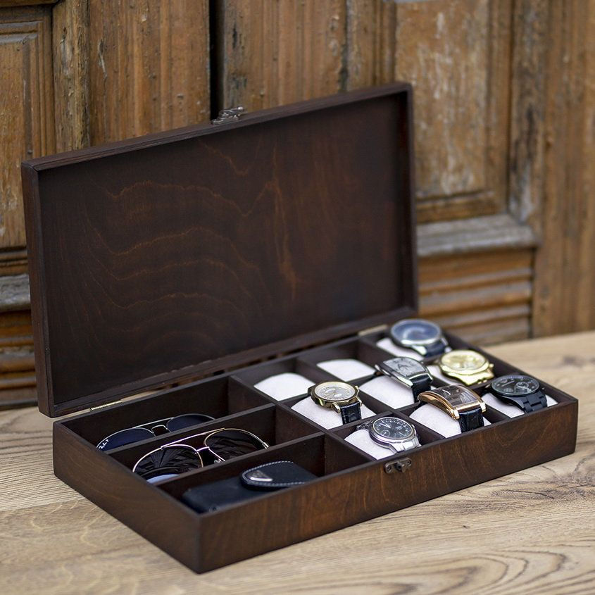 Wooden Jewelry Box For Watch And Accessories Hetch Ds7 Wooden Etsy In 2020 Mens Jewelry Box Wooden Jewelry Boxes Wooden Watch Box