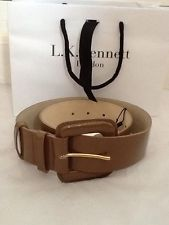 BNWT Gorgeous Ladies L.K Bennett Latte Patent Leather Belt, Size Small, Tagged