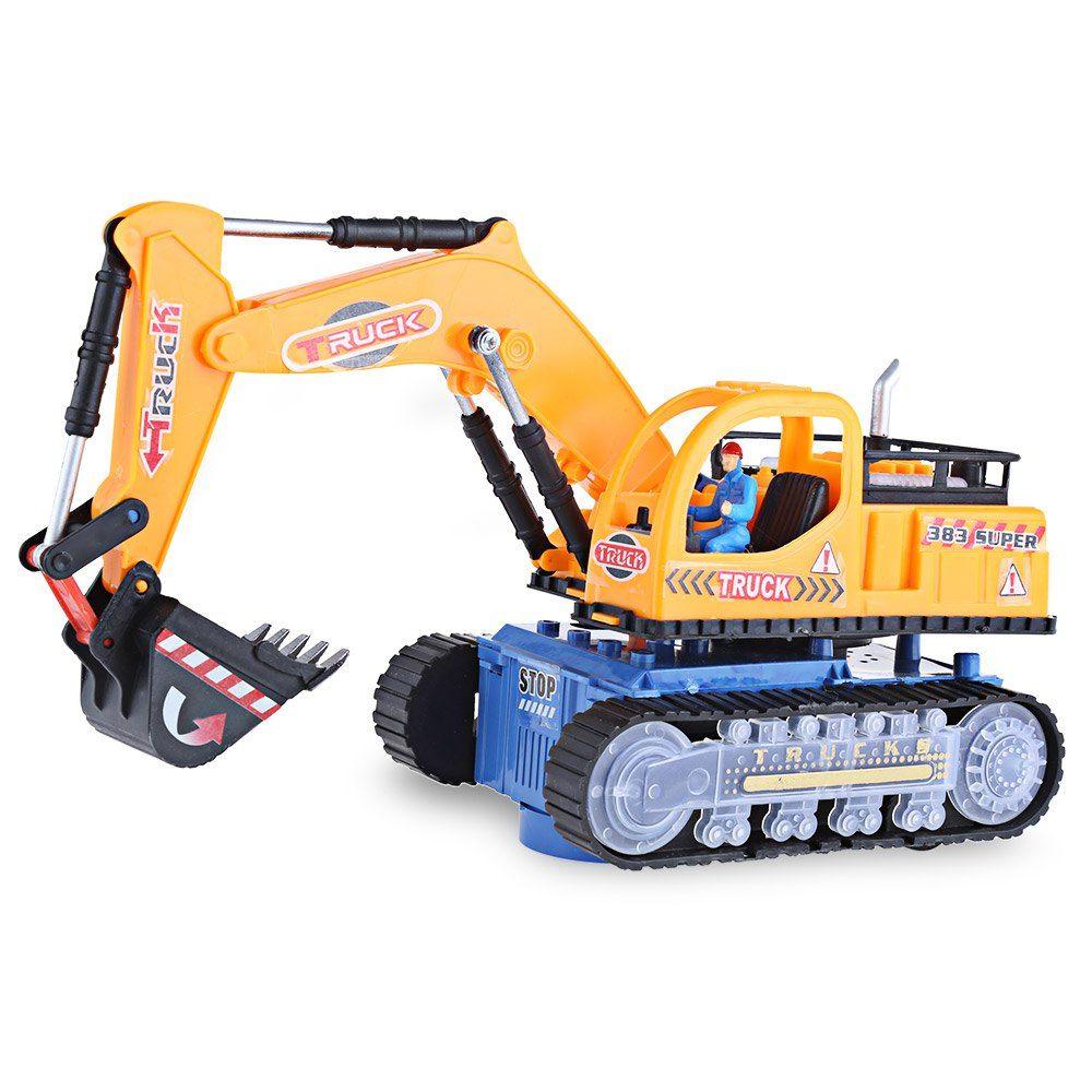 Educational car toys  HOT Sale Musical Excavator Flashing Wheel Builder Machine Car Kids