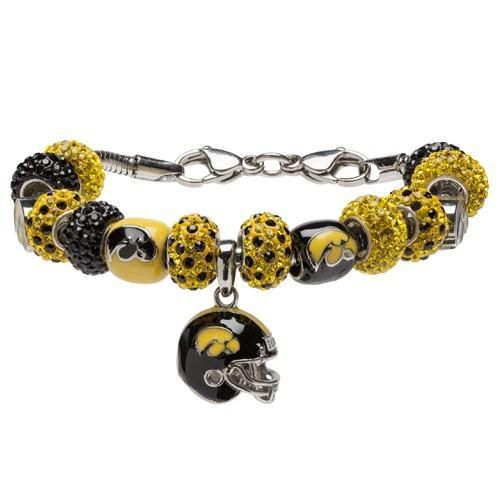 University Of Iowa Hawkeye Bracelet Jewelry Black And Gold