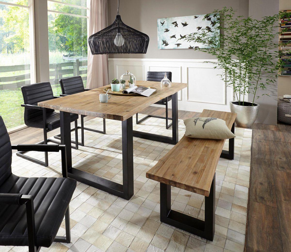 Home affaire Esstisch »Maryland«, mit Baumkante Tisch