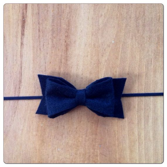 Black bow  headband  by MyLittleSunshineBows on Etsy