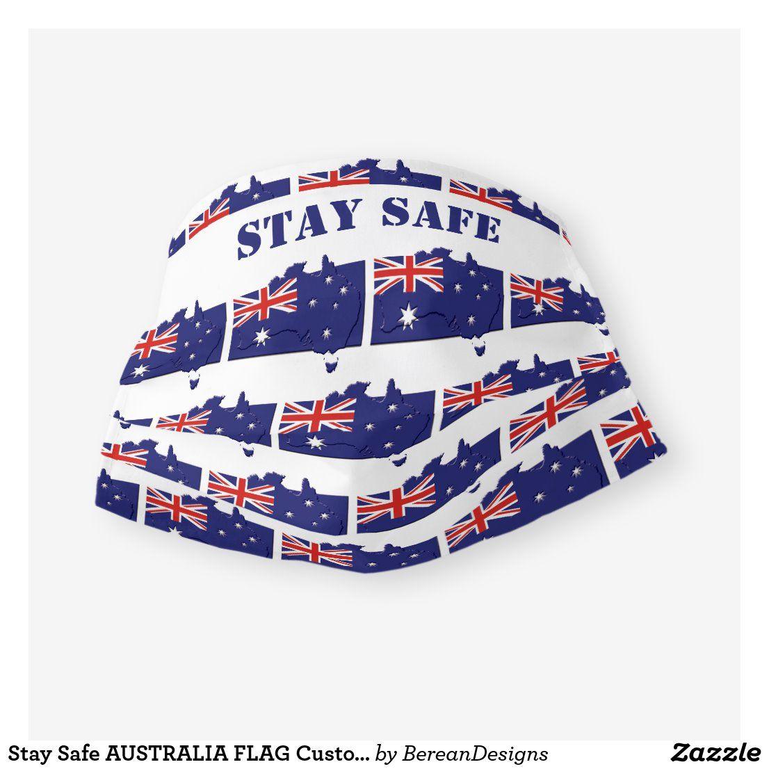 Stay Safe AUSTRALIA FLAG Customizable Cloth Face Mask