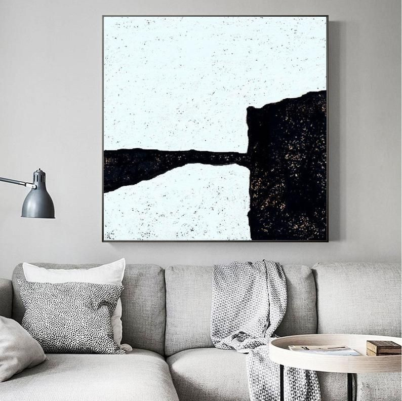 Oversized Abstract Painting On Canvas Abstract Art Minimalist Etsy Abstract Wall Art Painting Wall Art Decor Black And White Painting