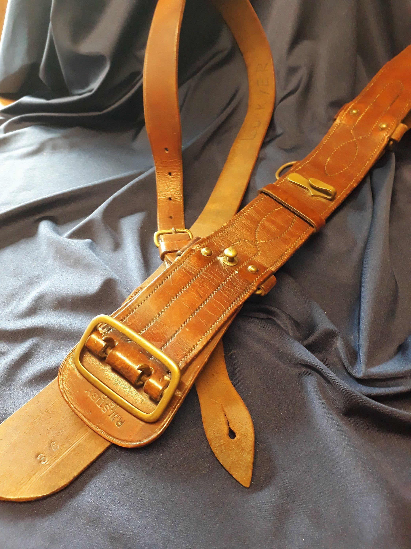 WW1, Sam Browne Belt, Officer's Belt, Militaria, Leather