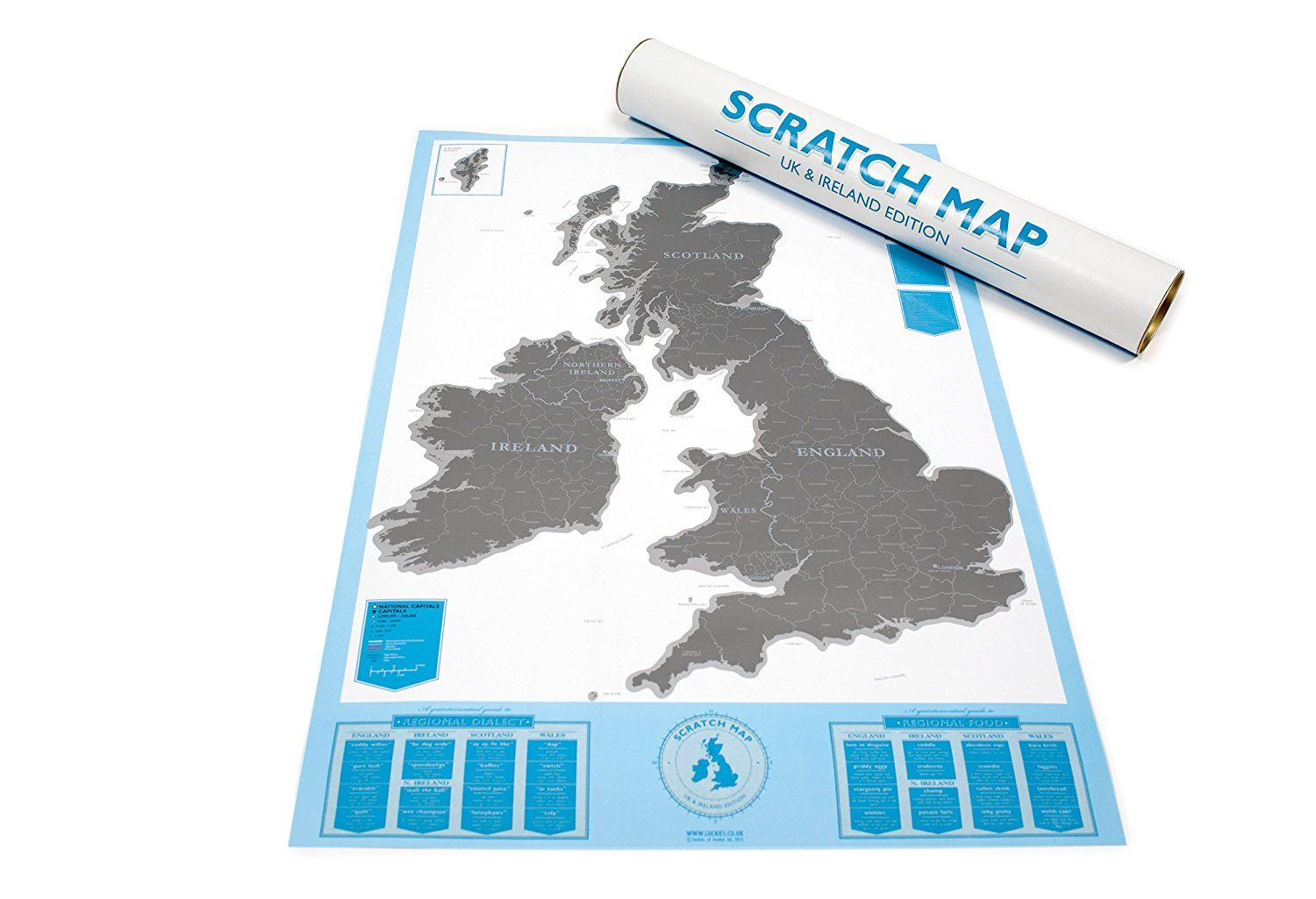 Scratch map uk ireland edition personalised map by luckies scratch map uk ireland edition personalised map by luckies amazon publicscrutiny Image collections