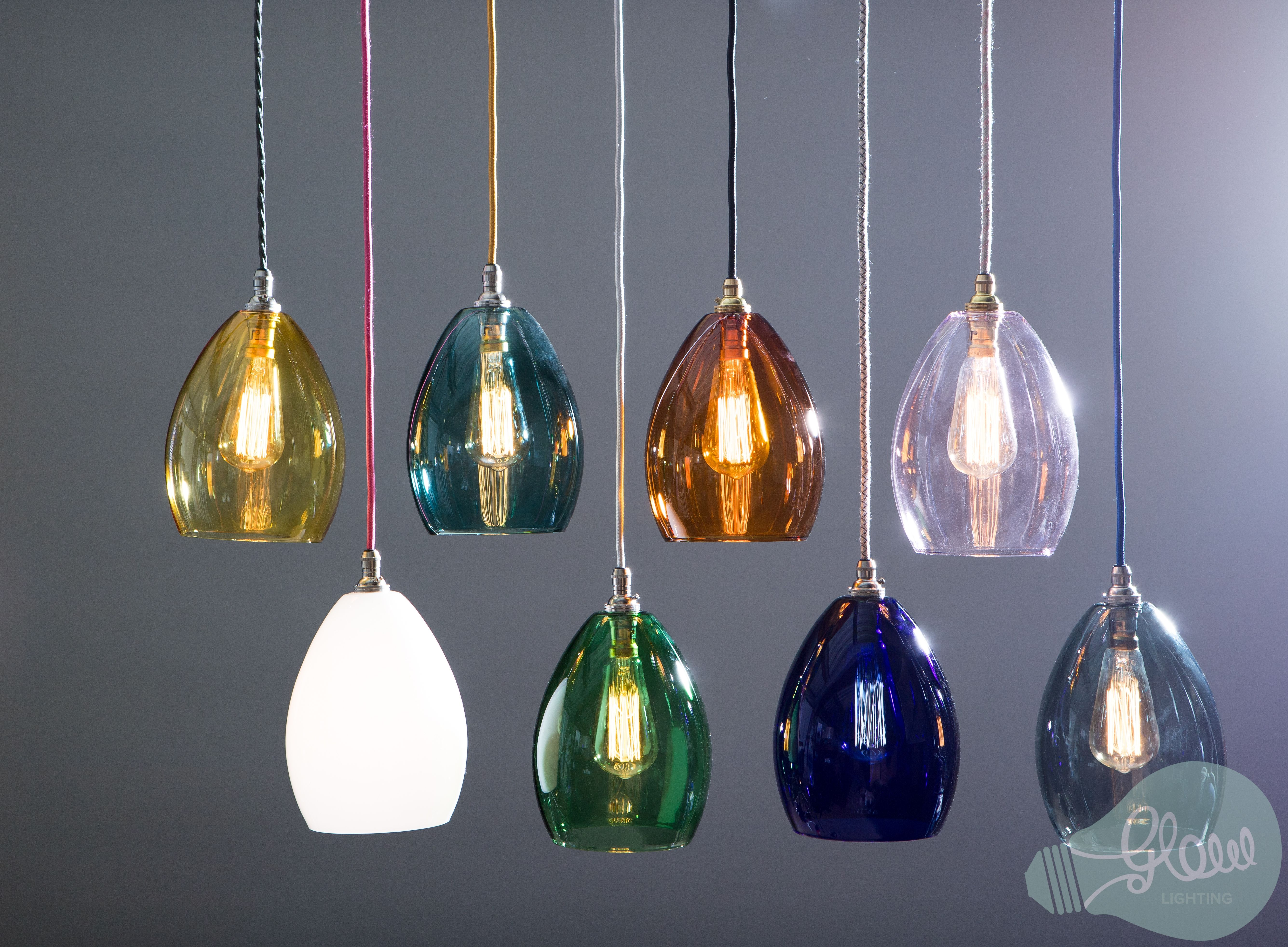 Coloured Glass Kitchen Pendant Lights Gorgeous Over Kitchen