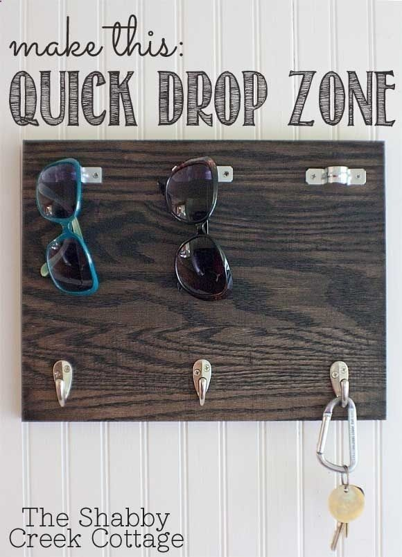 Make a quick drop zone for keys and sunglasses. | 44 Brilliant Space-Saving Storage Solutions For Your RV/Camper