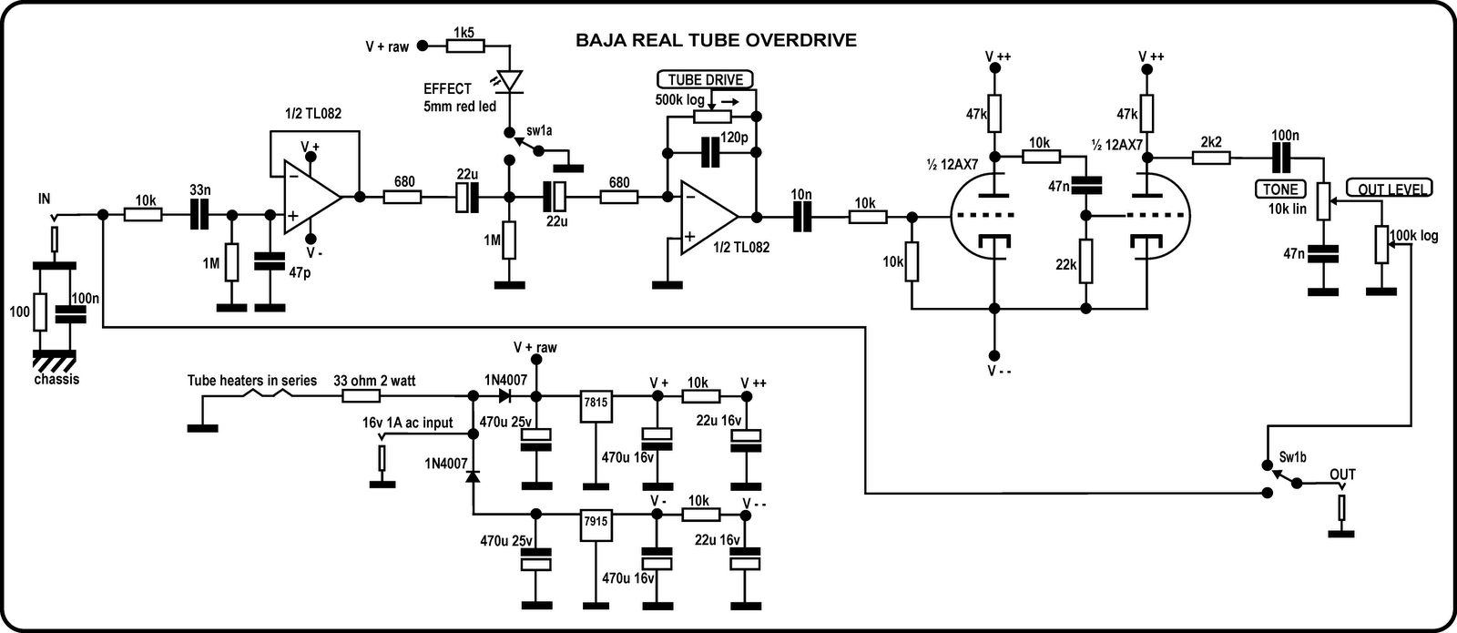 03ff390309d2644dfa300712d7089c44 baja real tube overdrive schematic png 1,600�695 pixels pcb Basic Electrical Wiring Diagrams at readyjetset.co