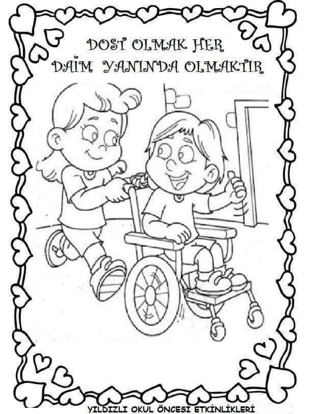 Okul Oncesi Dederler Editimi Boyama Sayfasy Resim Cizmek