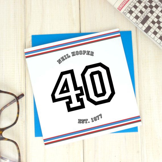 40th birthday age card personalised card sport birthday card 40th birthday age card personalised card sport birthday card uncle birthday card bookmarktalkfo Images