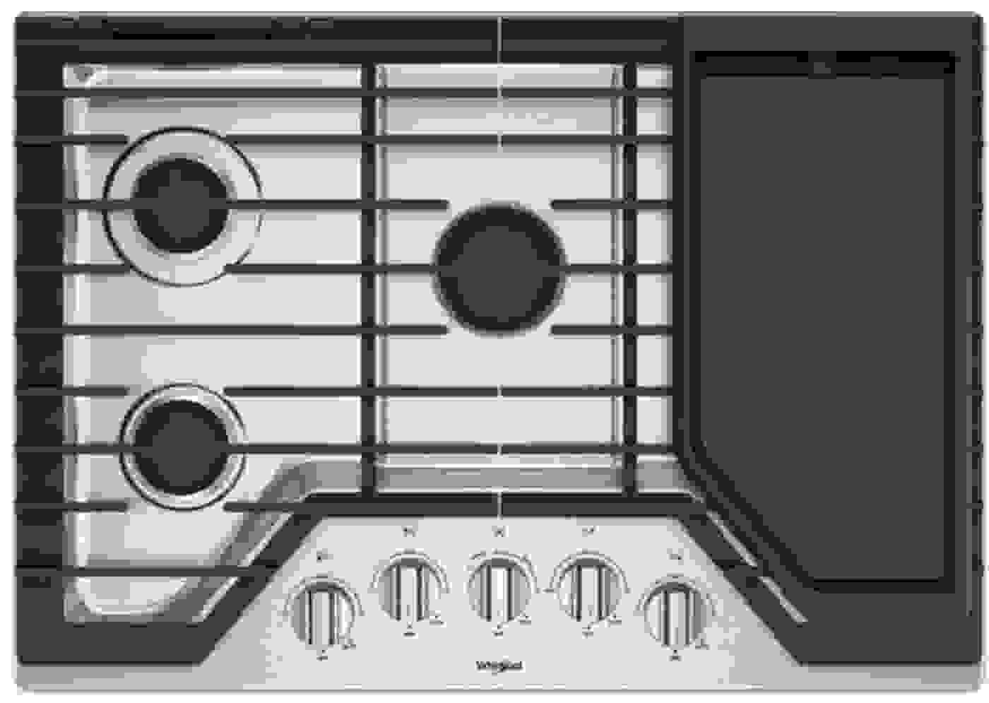 Wcg97us0hs By Whirlpool Natural Gas Cooktops Goedekers Com Gas Cooktop Cooktop Whirlpool