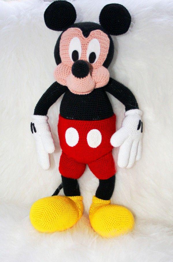 Weihnachten Minnie und Mickey Häkelanleitung | Basteln Häkeln ...