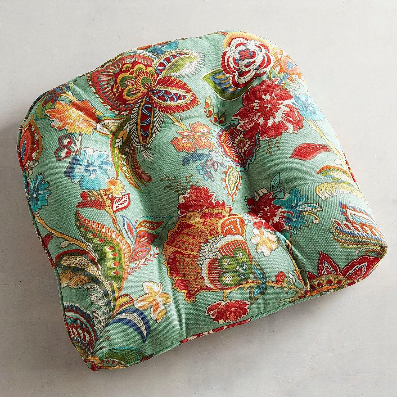 Standard Contour Chair Cushion In Ashford Blue Chair