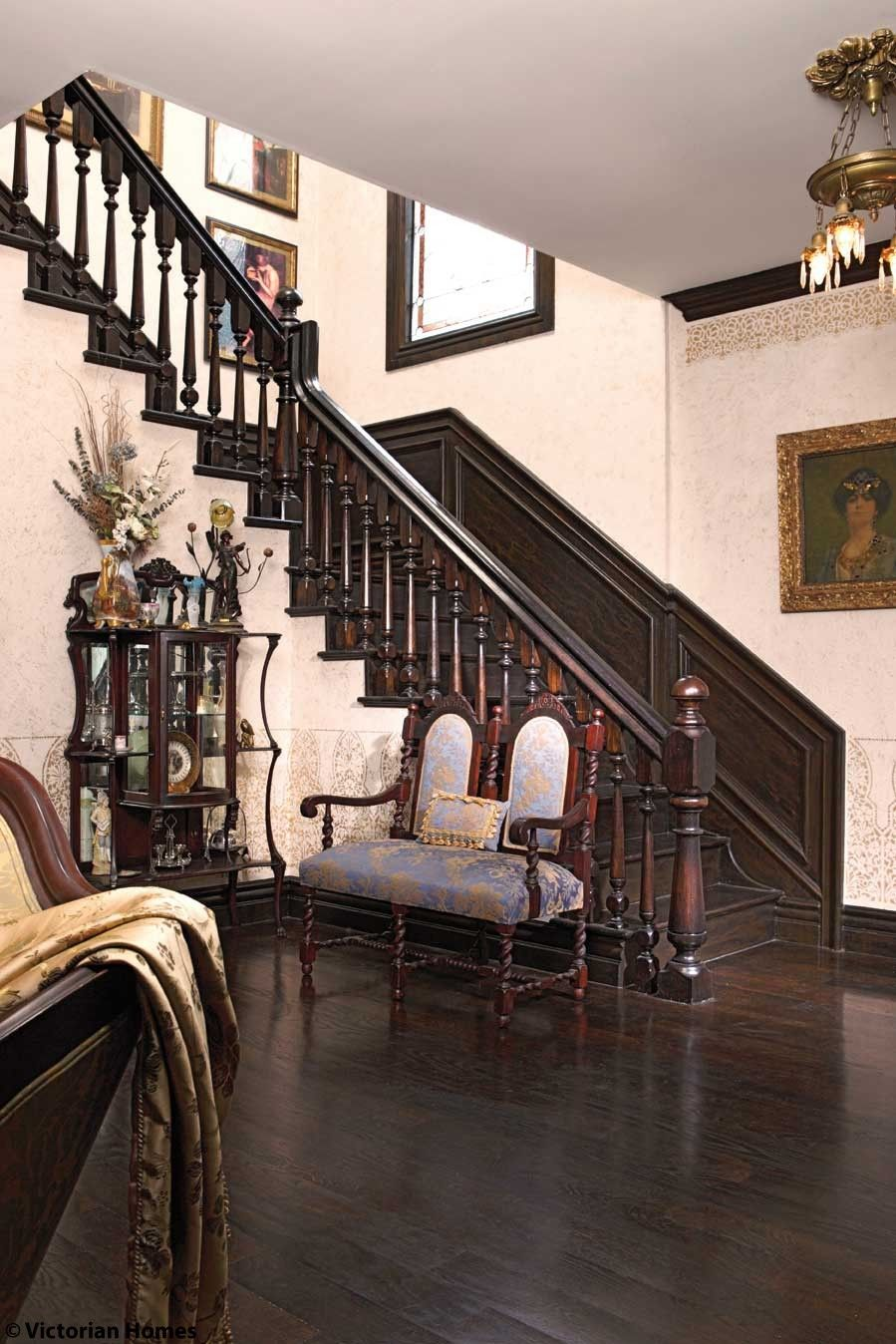 Best The Main Staircase Faux Grained By The Owner Makes Its 400 x 300