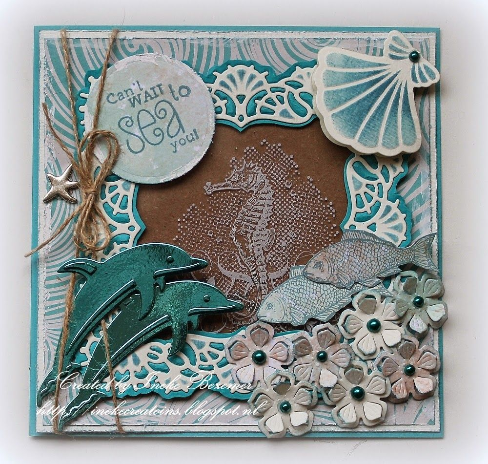 "Beach Theme Card Stock: Die Cuts With Foil/metallic Card Stock...Ineke""s Creations"