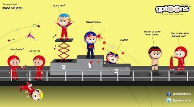 formula one cartoon images | Continental Circus: Formula 1 em Cartoons - GP de Itália (GP Toons)