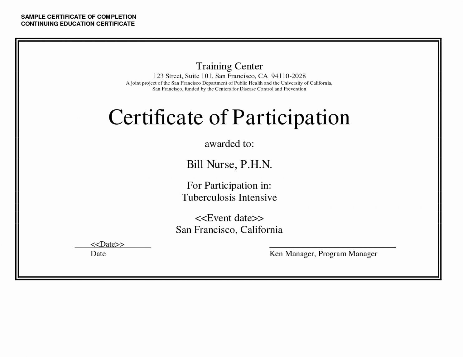 Browse Our Sample Of Continuing Education Certificate Template Education Certificate Certificate Templates Continuing Education Ceu certificate of attendance template