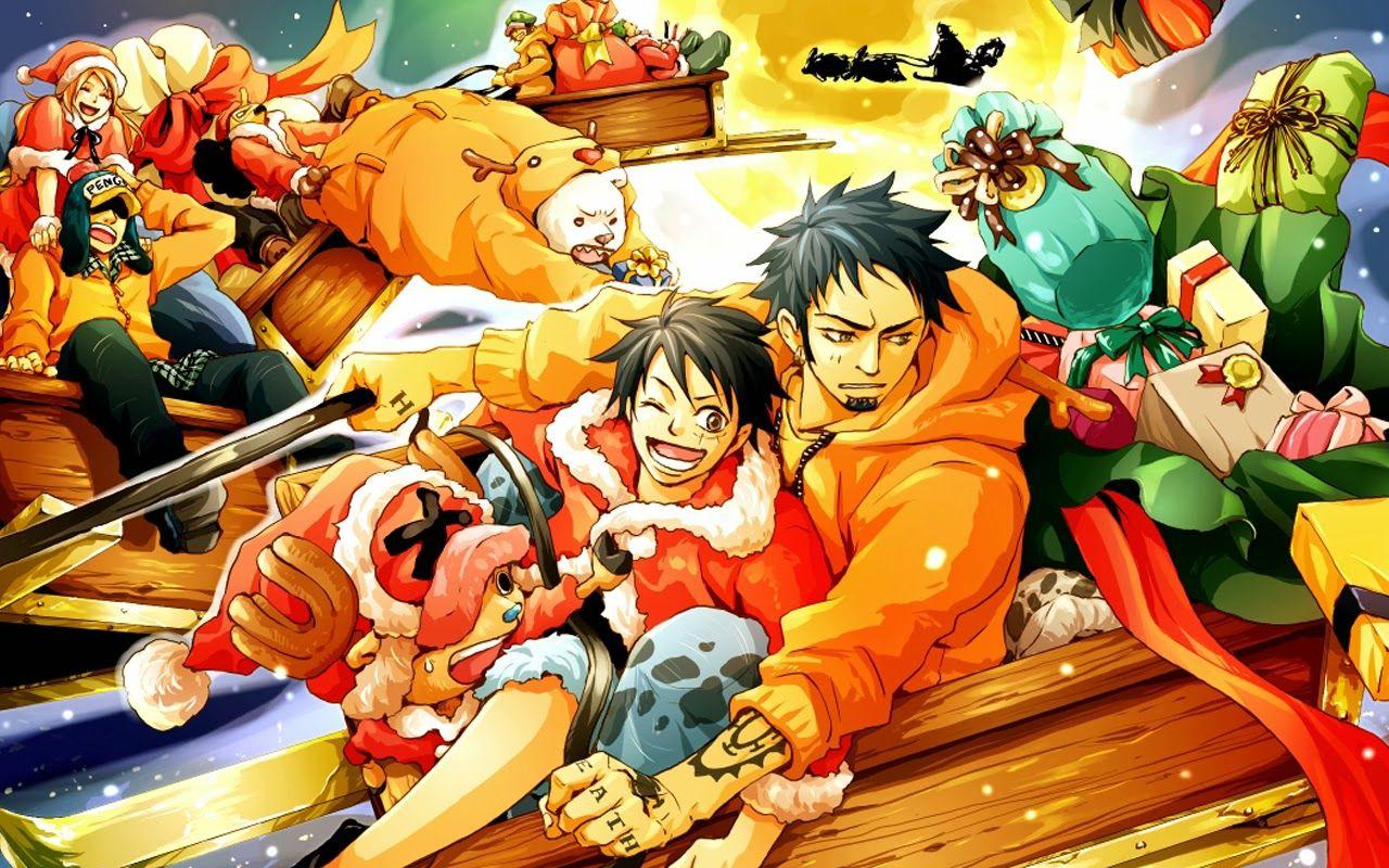 One Piece Christmas Anime Hd Wallpaper 1280x800 One Piece Anime Anime Christmas Anime