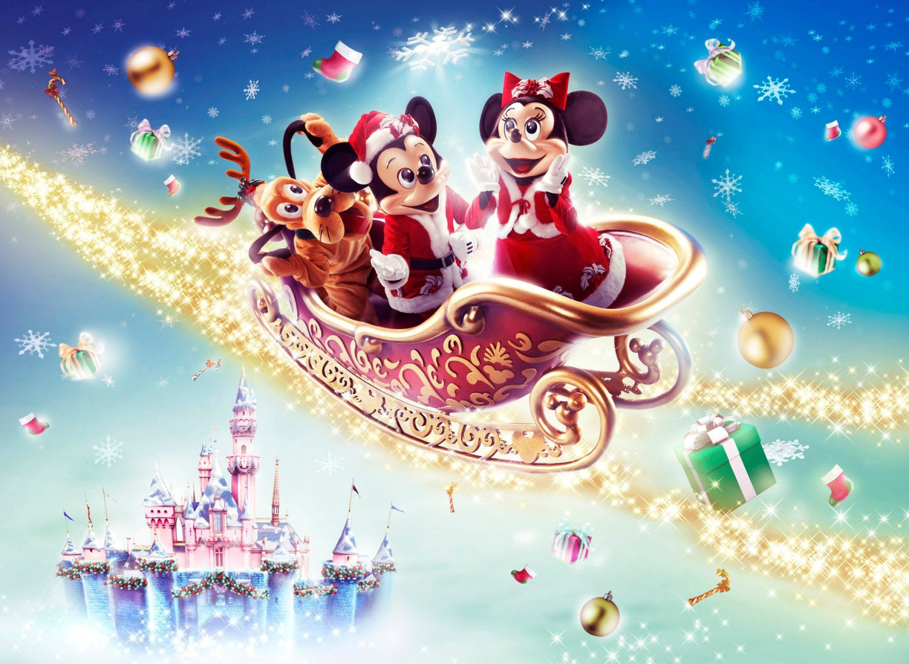 Sparkling Disney Christmas 2013 Wallpaper Chistmas