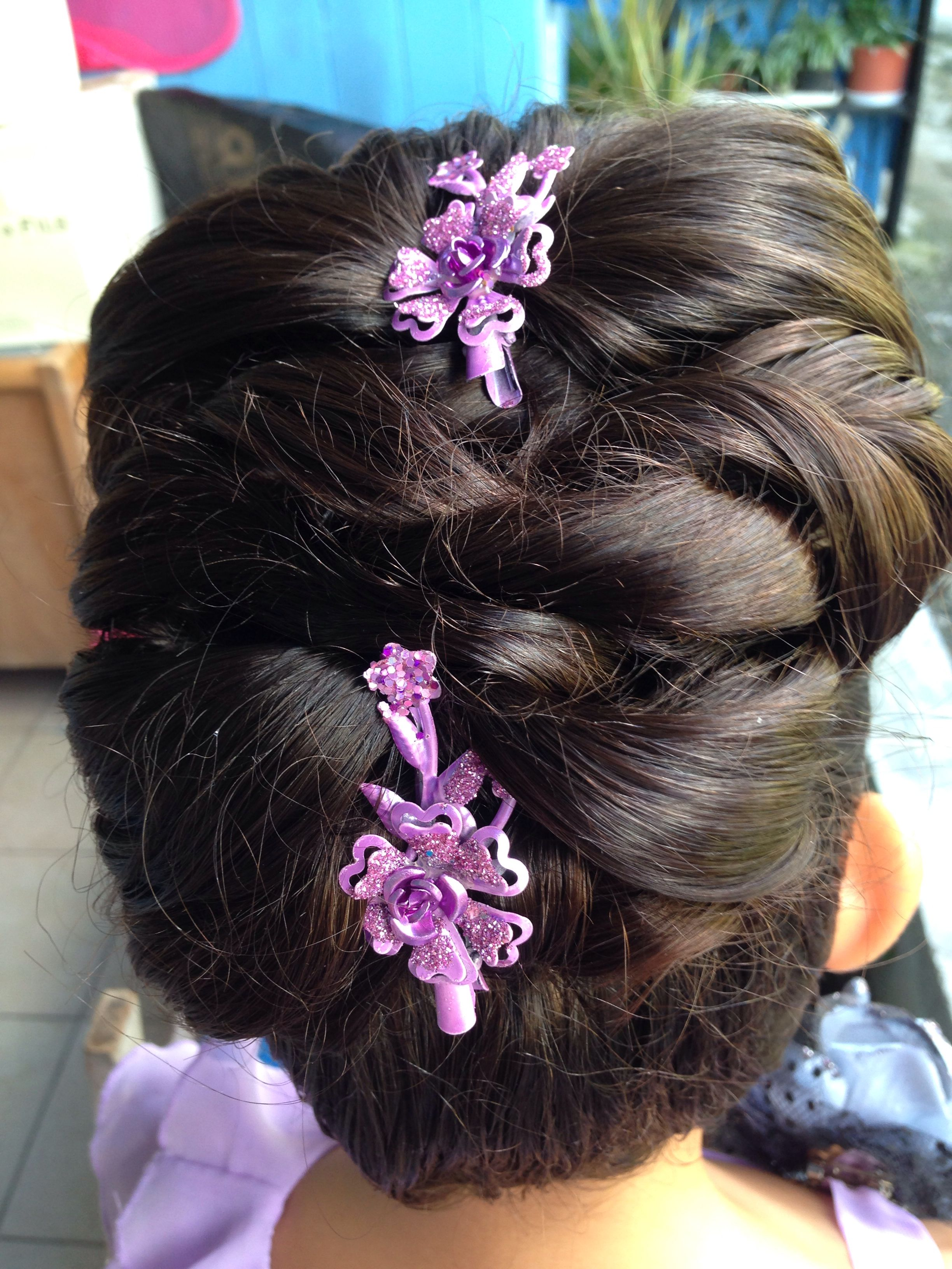 Pin up for a formal event woven locks to resemble a braid chic