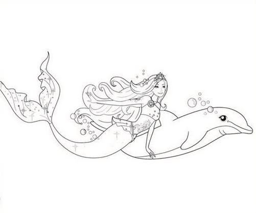 Ausmalbilder Delphin Meerjungfrau Delphine Ausmalbilder Ausmalen