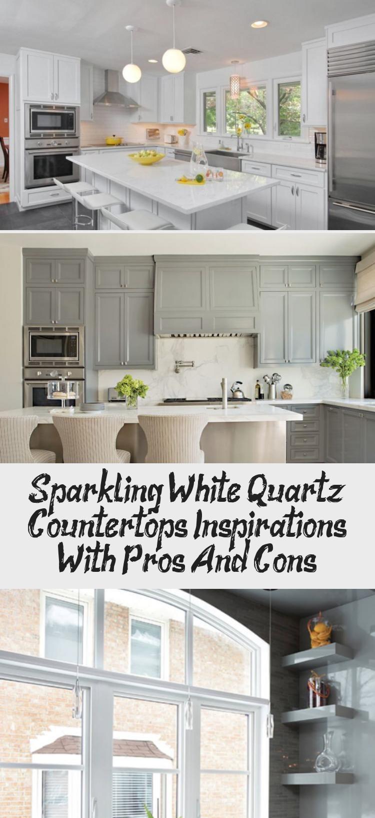 Inspirationen Fur Funkelnde Weisse Quarz Arbeitsplatten Mit Vor Und Nachteilen Ktchn In 2020 Countertops White Quartz Countertop Wooden Countertops Kitchen