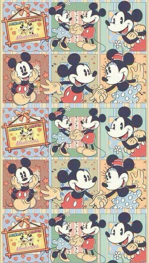 Mickey Minnie Vintage Collage Photo Mickey Mouse