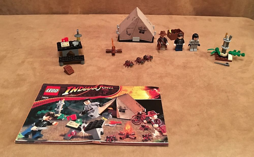 7624 Lego Complete Indiana Jones Kingdom Of The Crystal Skull Jungle