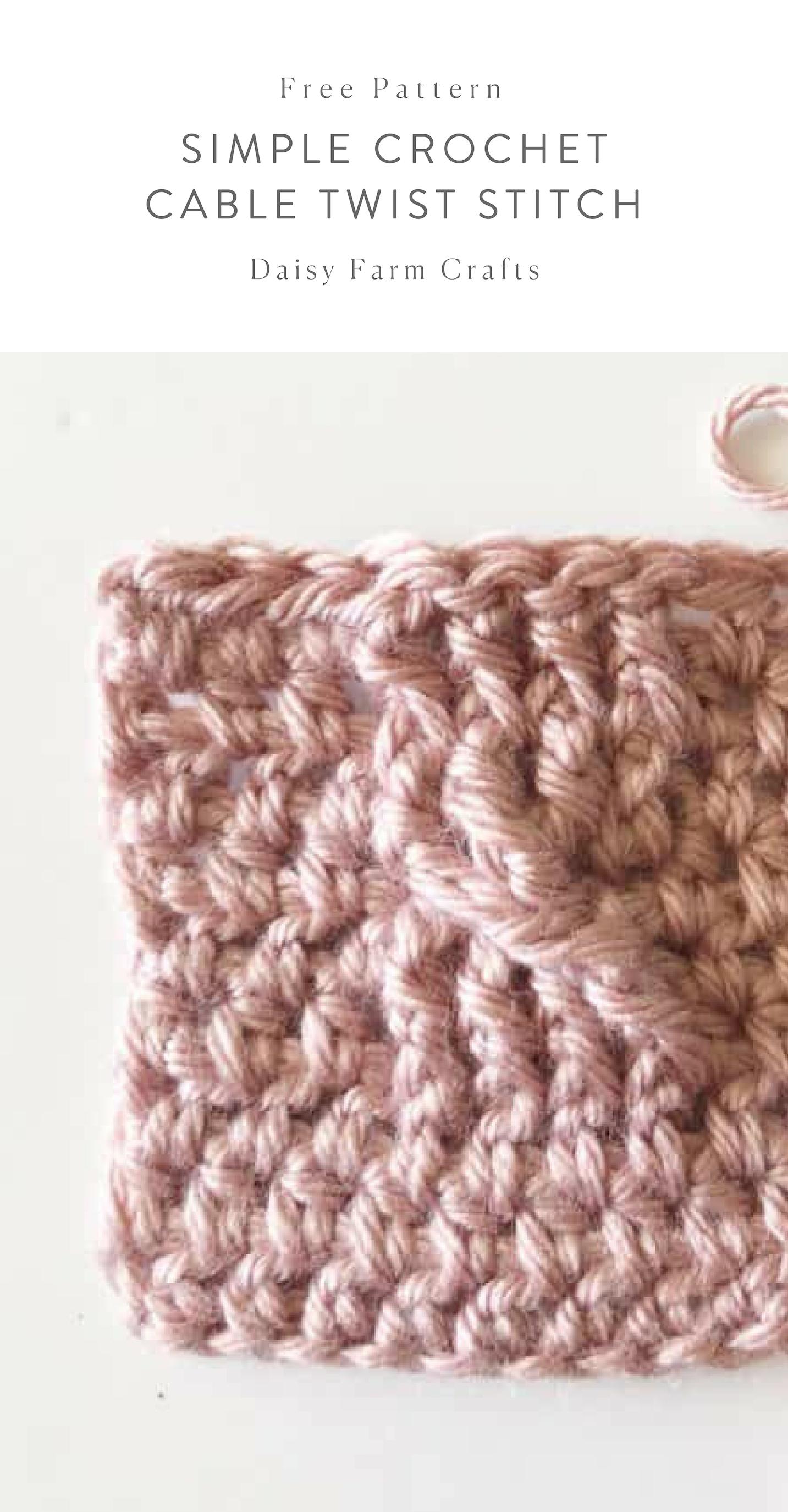 Free Pattern Simple Crochet Cable Twist Stitch Free Crochet