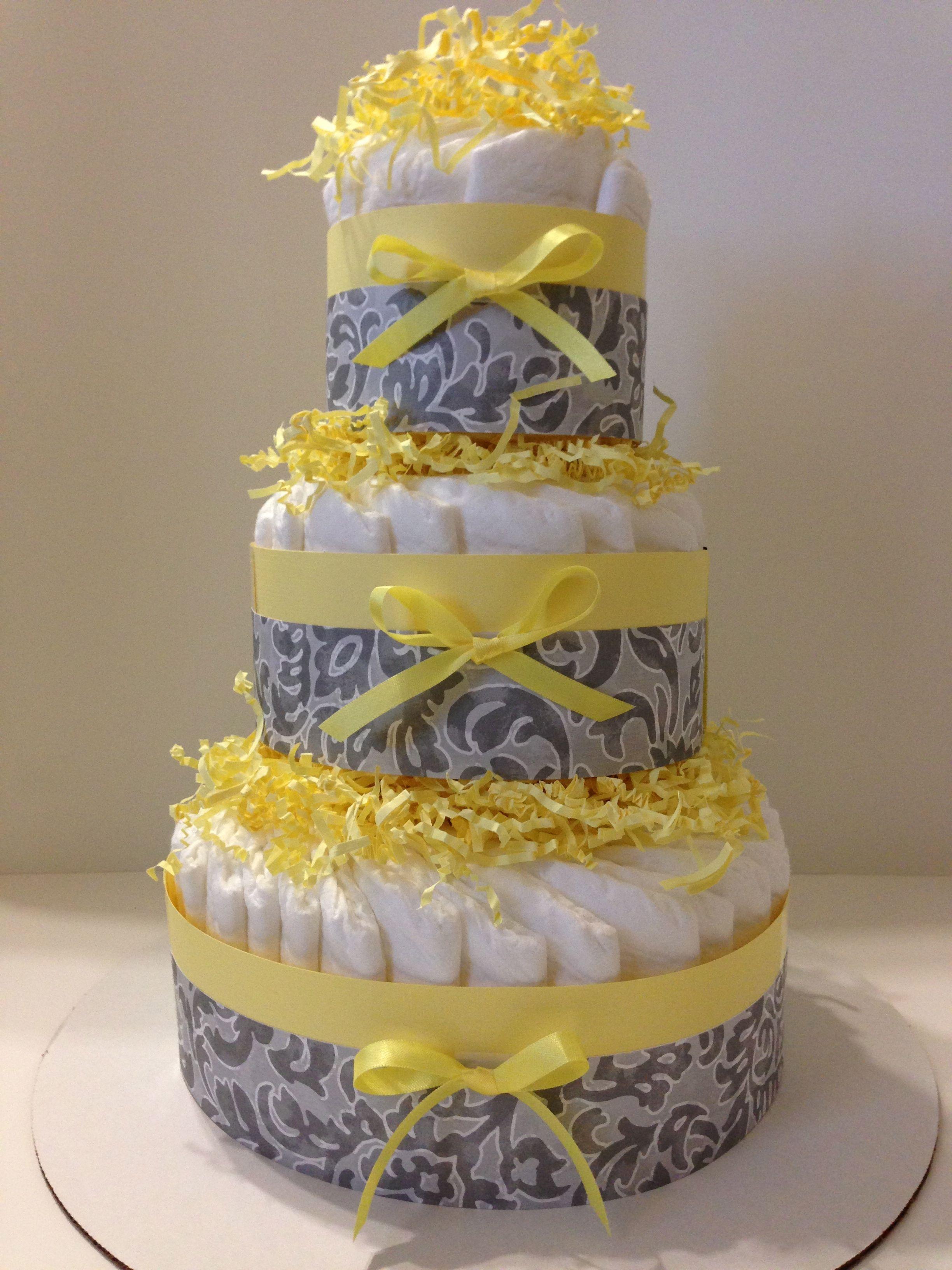 Pamper Me Neutral Unisex Diaper Cake Collection Diaper Cake