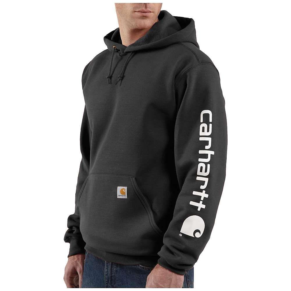 Carhartt Men S Midweight Signature Sleeve Logo Hooded Sweatshirt Carhartt Sweatshirts Mens Sweatshirts Carhartt [ 1000 x 1000 Pixel ]