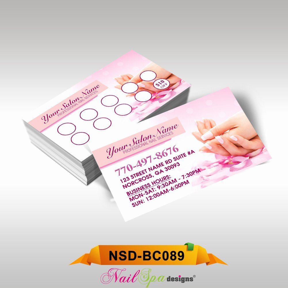 Nail Salon Business Card Beautiful Nail Spa Business Card Bc089 911prints 24hr Print Nail Salon Business Cards Salon Business Cards Design Salon Business Cards
