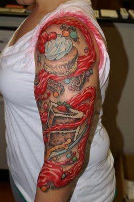 Candy Tattoo Candy Tattoo Cupcake Tattoos Inspirational Tattoos