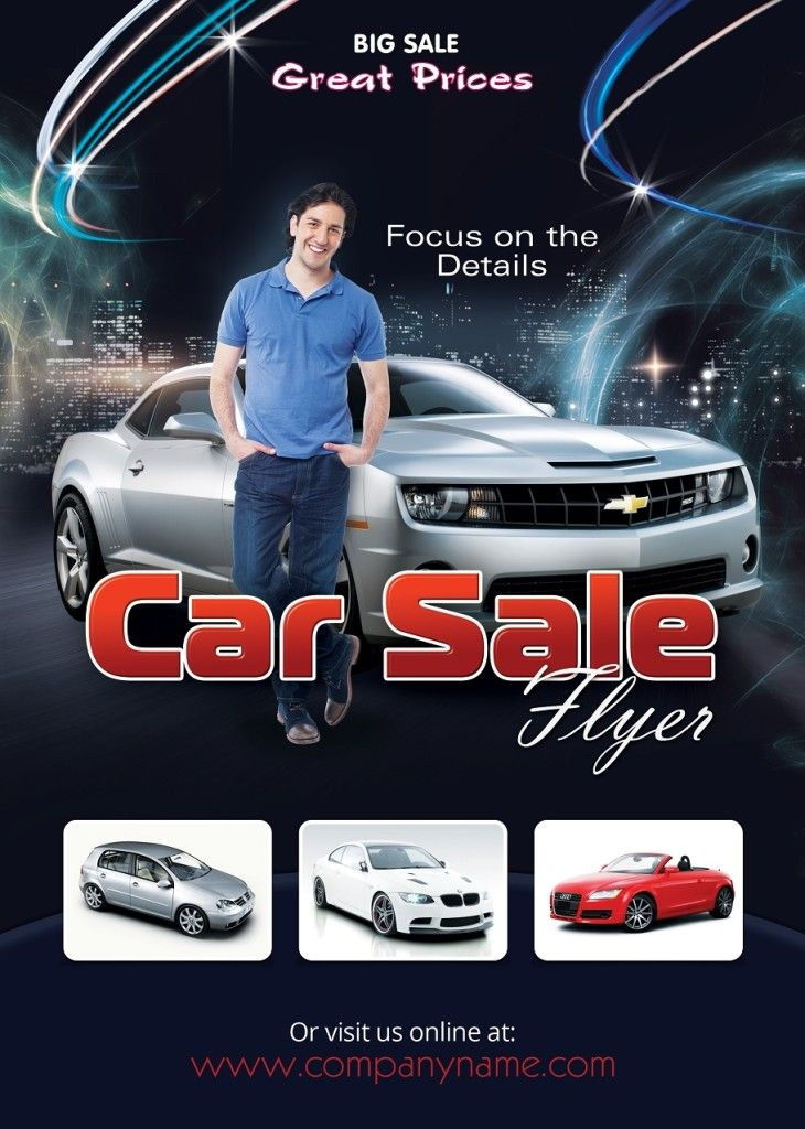 Car Sale Flyer Design  Car For Sale Flyer Template