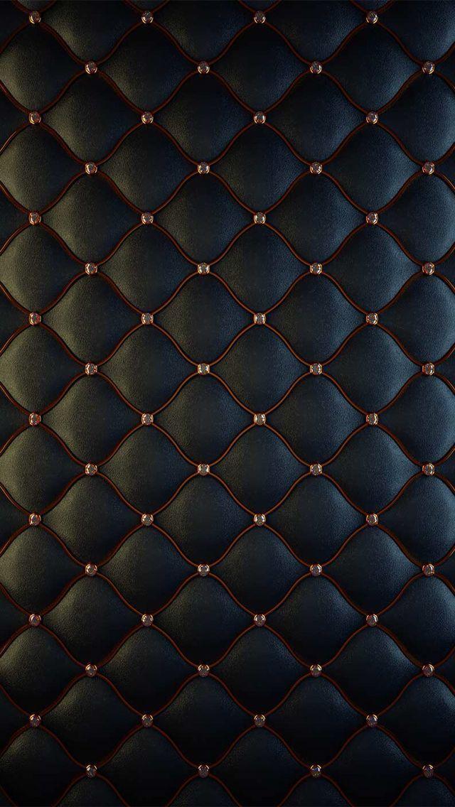 I Phone Rich Black Upholstered Wallpaper